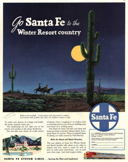 Santa Fe System Lines – Go Santa Fe to the Winter Resort country (1948)