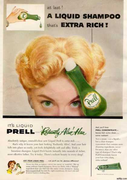 Proctor and Gamble's Prell Shampoo (1956)