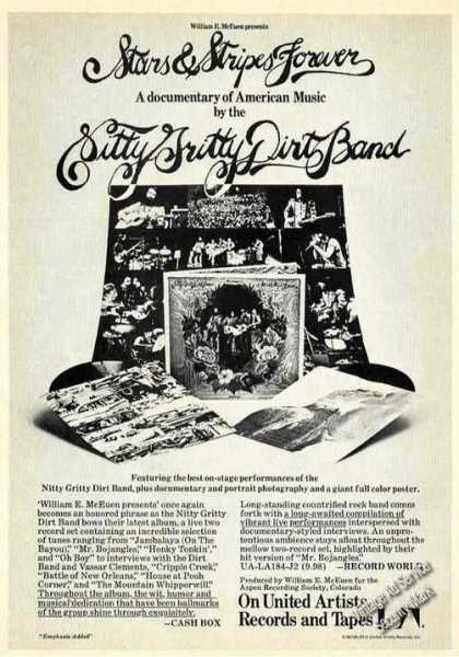 Nitty Gritty Dirt Band Stars & Stripes Forever (1974)