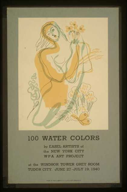 100 water colors by easel artists of the New York City WPA Art Project. (1940)