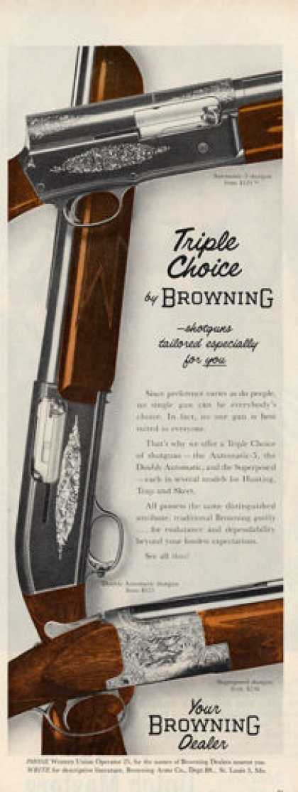 Browning Double Automatic 5 Shotgun Ad T (1956)