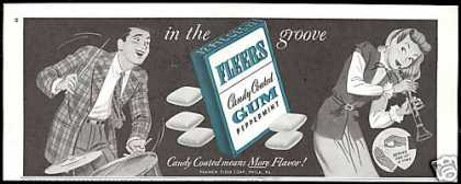 Fleers Peppermint Gum Vintage Print Candy (1947)