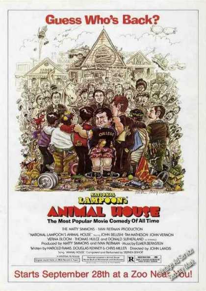 "National Lampoon's ""Animal House"" Move Comedy (1979)"