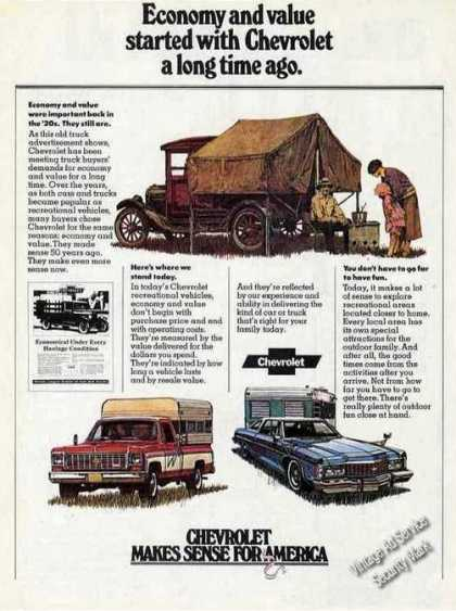 "Chevrolet ""Makes Sense for America"" Unusual (1974)"
