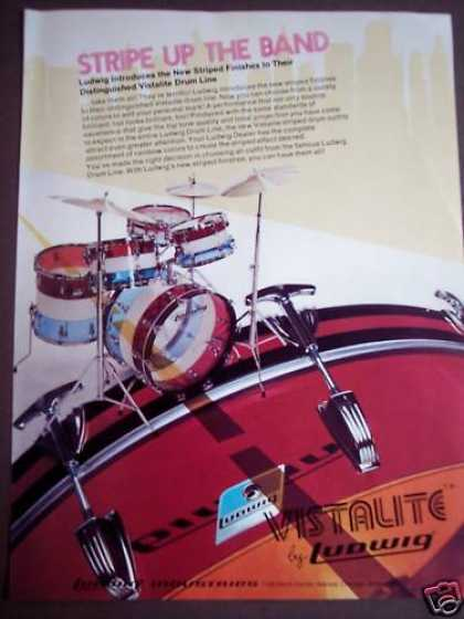 Ludwig Vistalite Drums Music (1975)