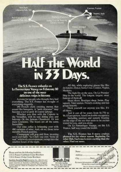 "S. S. France ""Half the World In 33 Days"" Cruise (1972)"