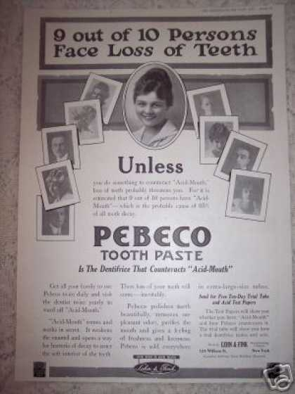 Pebeco Tooth Paste Original (1917)