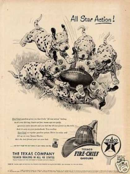 "Texaco Ad ""All Star Action"" Dalmatians (1952)"