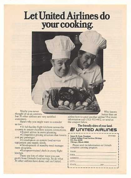 United Airlines Catering Program Chefs Photo (1976)