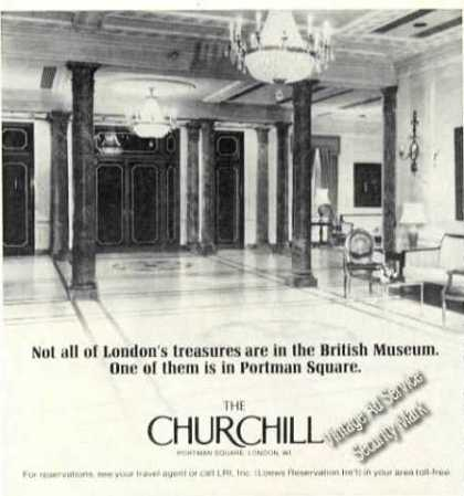 The Churchill Portman Square London Travel Adv (1978)