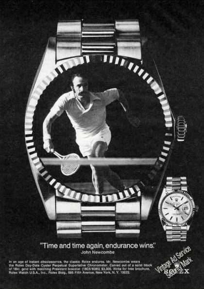 John Newcombe Photo Tennis Rolex Watch (1975)