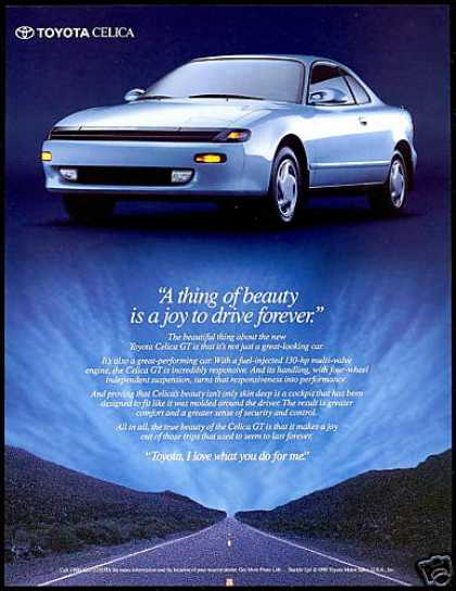 Toyota Celica GT Car Photo Thing of Beauty (1990)
