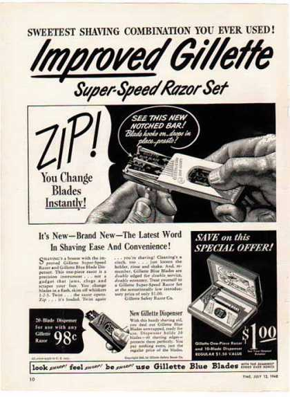 Gillette Razor – Super Speed Razor Set (1948)