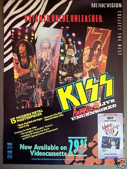 Kiss Animalize Movie Music Video Promo (1985)