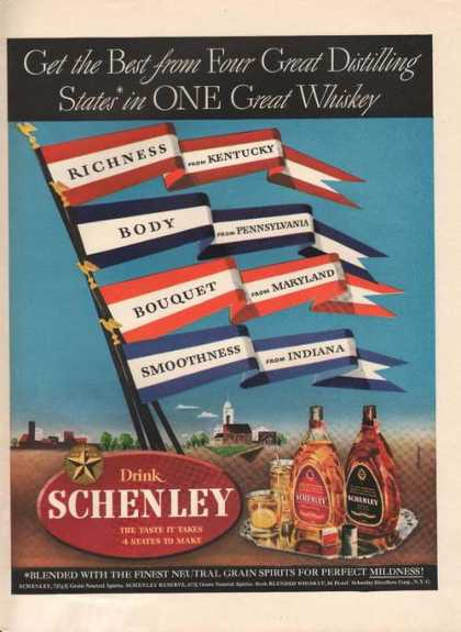One Great Whiskey Drink Schenley (1942)