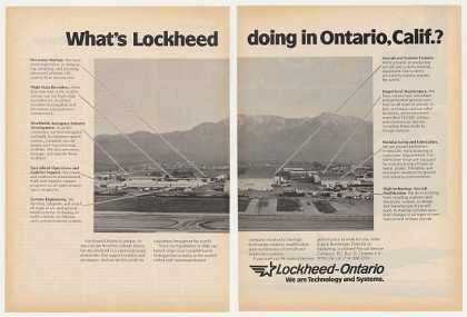 Lockheed Aircraft Ontario California Photo 2-Pg (1982)