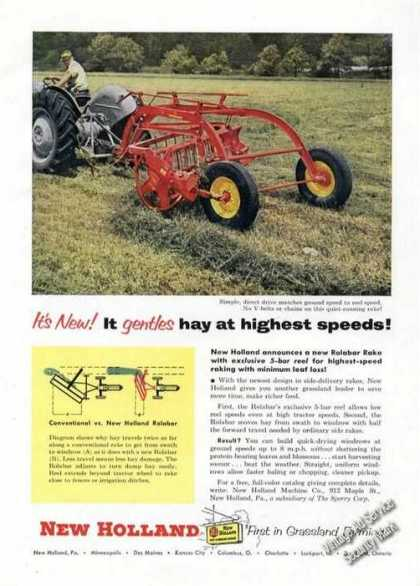 New Holland Rolabar Rake Farm Advertising (1955)