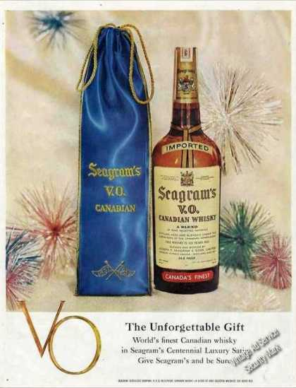 Seagram's V.o. Canadian Whiskey (1957)