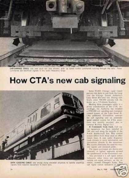 """How Cta's New Cab Signaling System Works"" Article (1968)"