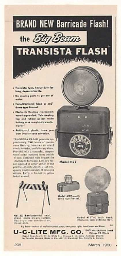 U-C-Lite Big Beam Transista Flash Light (1960)