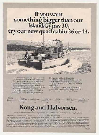 Kong & Halvorsen Island Gypsy 44 Boat Photo (1977)
