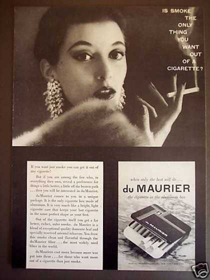 Smoking Woman Du Maurier Cigarette Aluminum Box (1953)