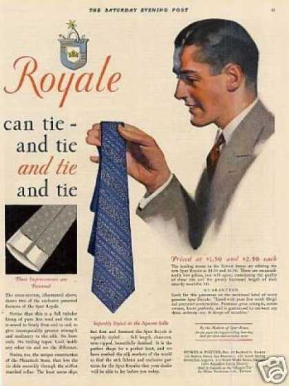 Spur Royale Tie Color Ad 2 Page (1931)