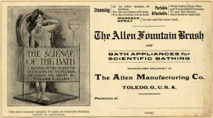 Allen Mfg. Co.'s Allen Fountain Brush – The Allen Fountain Brush and Bath Appliances for Scientific Bathing