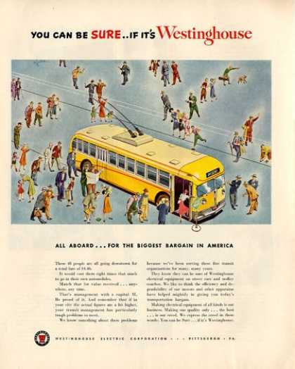 Westinghouse Nice Illustrated Cable Car (1950)
