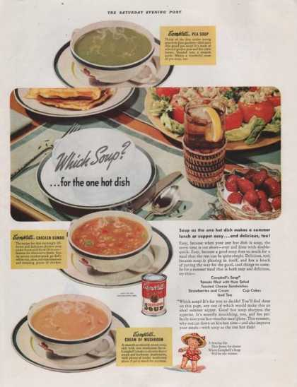 Campbells Which Soup for the One Hot Dish (1941)
