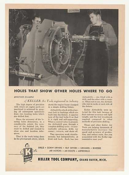 Keller Tool Airfeedrill Jet Engine Photo (1953)