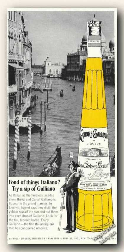 Venice Grand Canal Photo Liquore Galliano (1966)