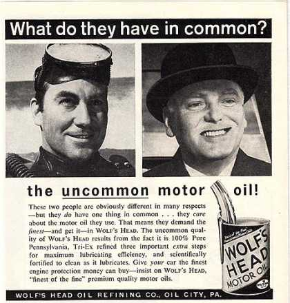 Wolf's Head's uncommon motor oil (1962)
