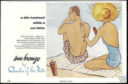 Charles of The Ritz Beach Sun Lotion (1953)