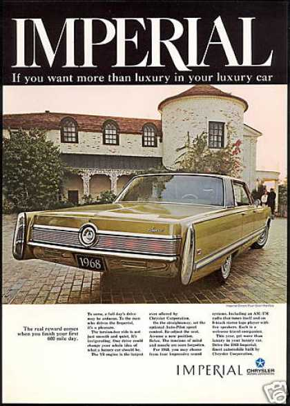 Imperial Crown 4Dr Hardtop Luxury Car (1968)