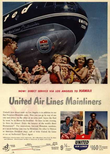 United Air Line's Hawaii – United Air Lines Mainliners (1950)