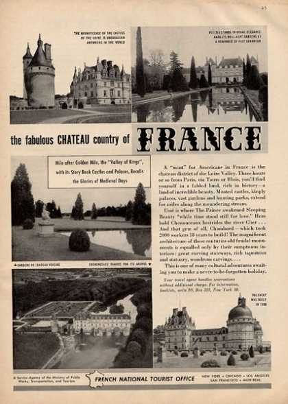 Chateau Country France Travel Tourist (1950)