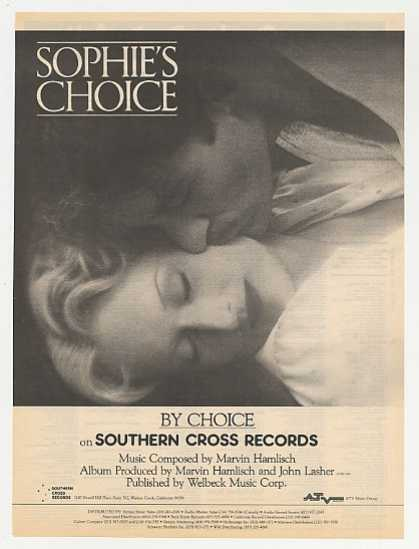 Sophie's Choice Movie Soundtrack Promo Photo (1983)