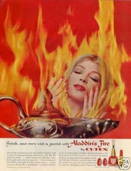 "Cutex ""Aladdin's Fire"" Nail Polish (1961)"