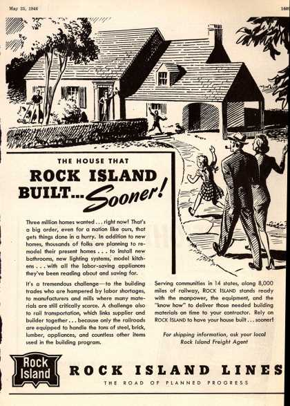 Rock Island Lines – The House That Rock Island Built... Sooner (1946)