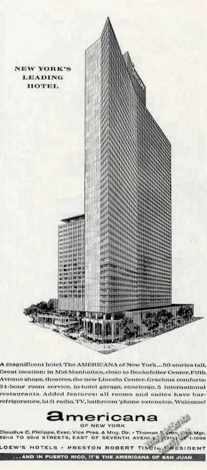 Americana of New York Art Hotel (1963)