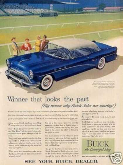 "Buick Special Riviera Car Ad ""Winner That Looks... (1954)"