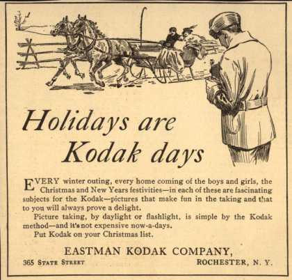 Kodak – Holidays are Kodak Days (1915)