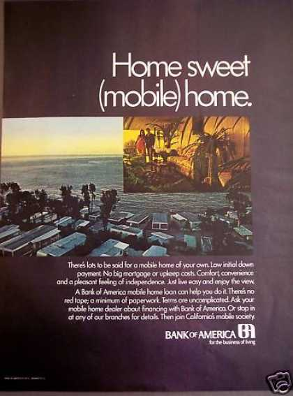California's Mobile Homes Bank of America (1971)