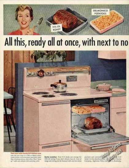 Ge Automatic Electric Range (1956)