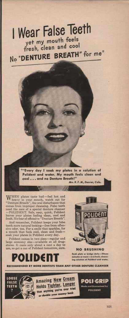 Polident Denture Cleanser (1950)