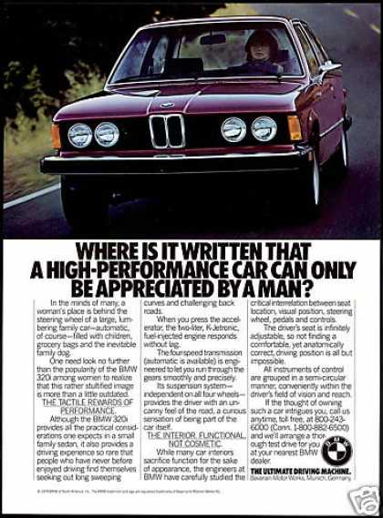 BMW 320i 320-i Car Photo Woman Driver (1979)