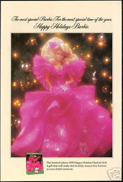 Barbie Doll Mattel Happy Holidays (1990)