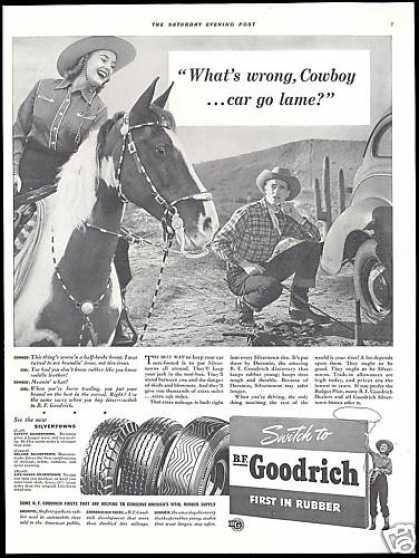 Horse Cowboy Lame Car BF Goodrich Tire (1941)