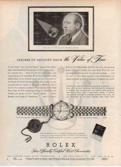 Rolex Watch – Colonel N. Jay Boots (1952)
